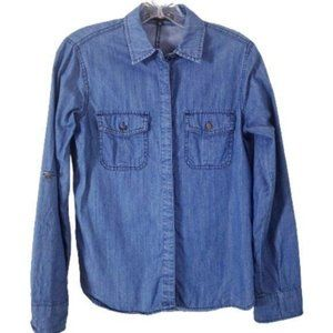Sanctuary Clothing Chambray Cotton Button Up Top